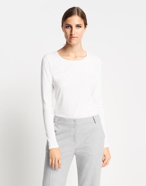 Langarmshirt Kalia white