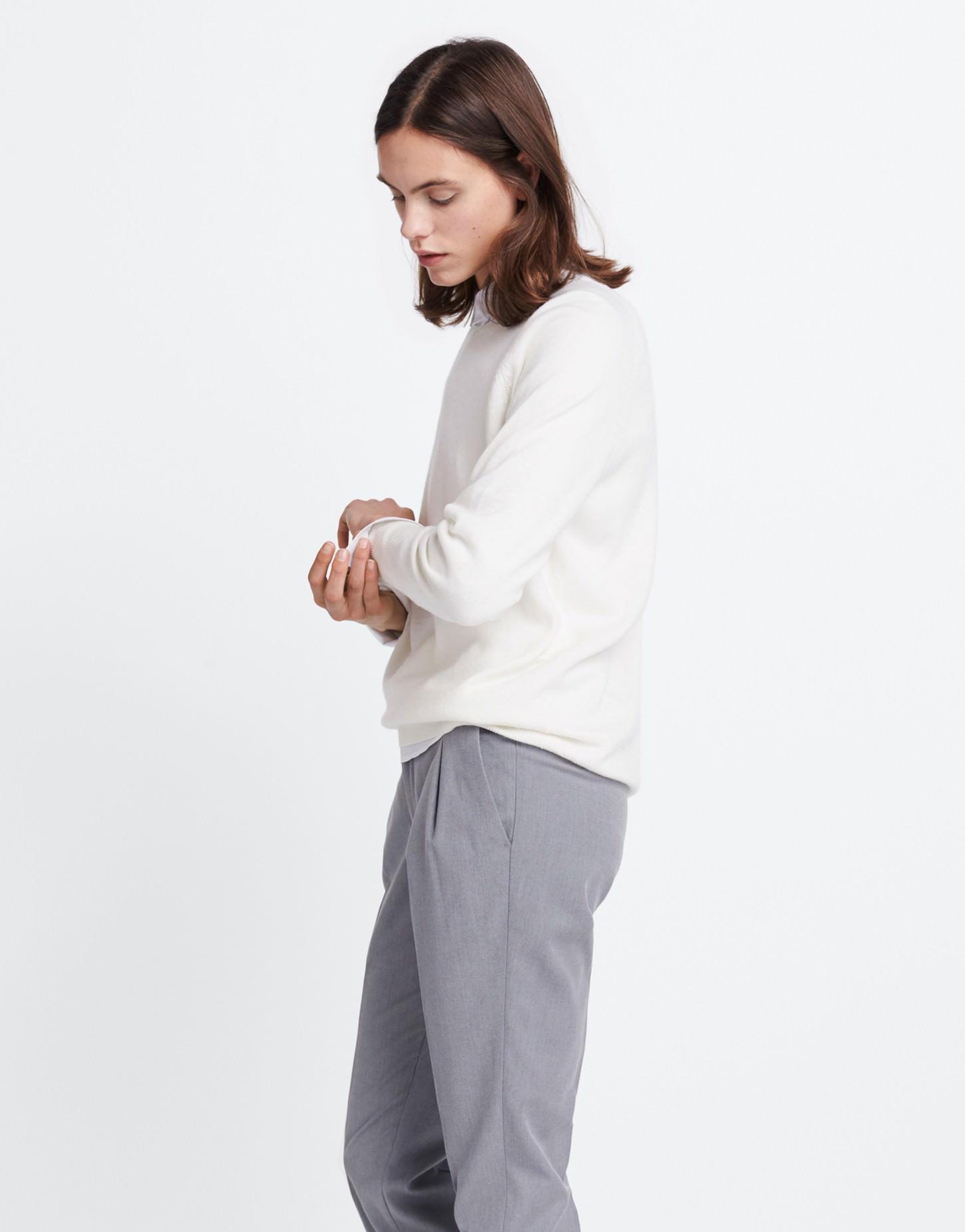 pullover weiß kaschmir