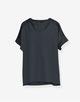 V-hals shirt Kurti dark jade