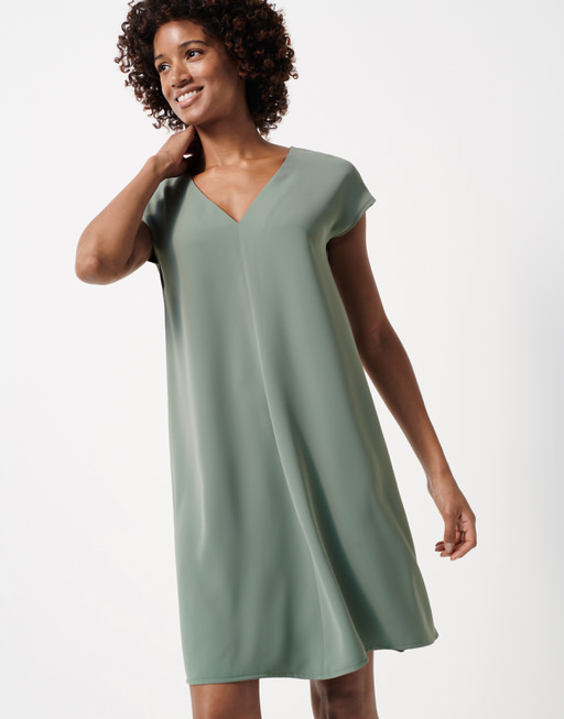 Shirtkleid Qaskiya grey green