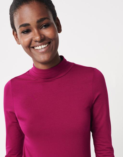 Langarmshirt Kusi wild pink