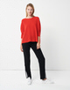 Oversize Pullover Tjelva cosy riot red
