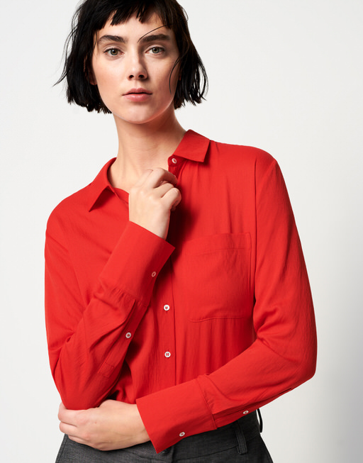 Crinkle blouse Zita riot red
