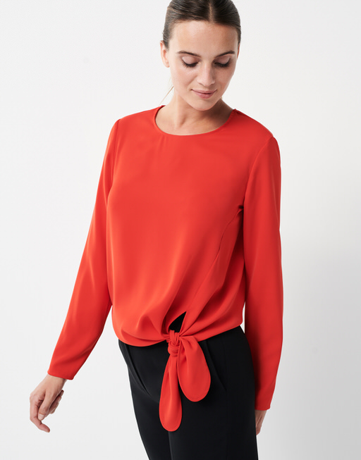 Shirt blouse Zedna riot red