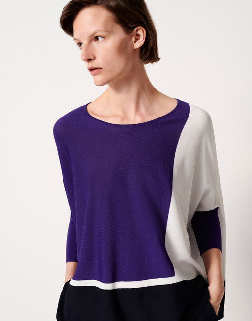 Oversize Pullover Tjelva grafic vivid violet