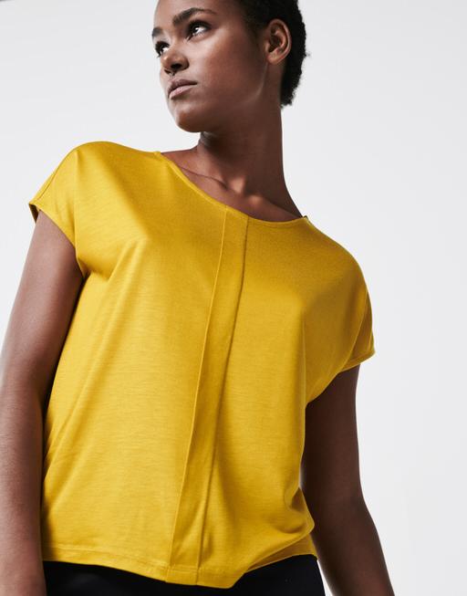 T-shirt Kusana mute mustard
