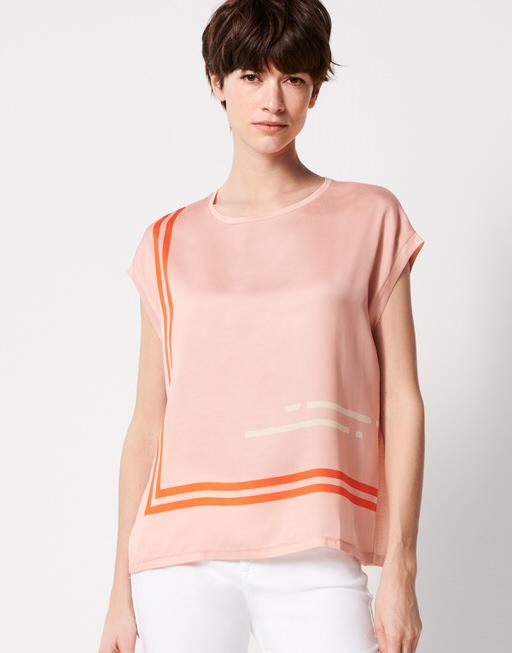 Shirt with print Kori line papaya
