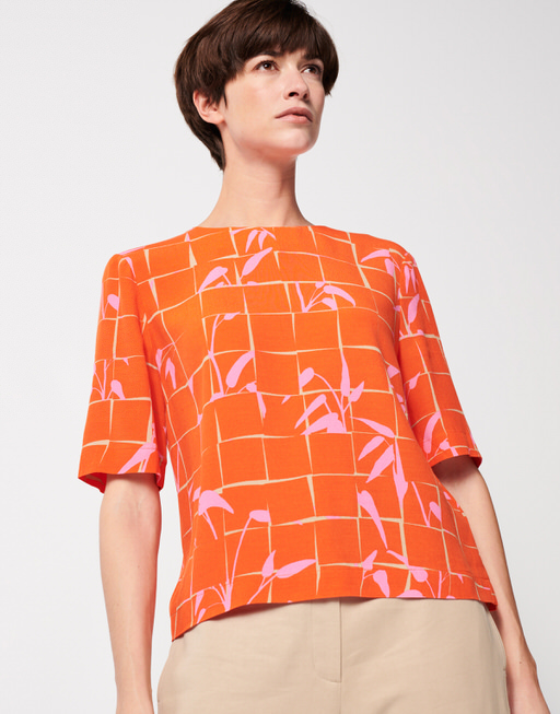 Shirtbluse Zhilipp floral papaya