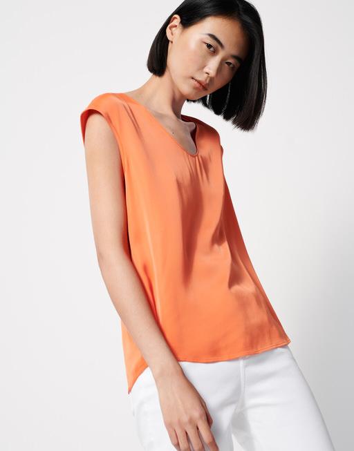 Shirt blouse Zadira papaya