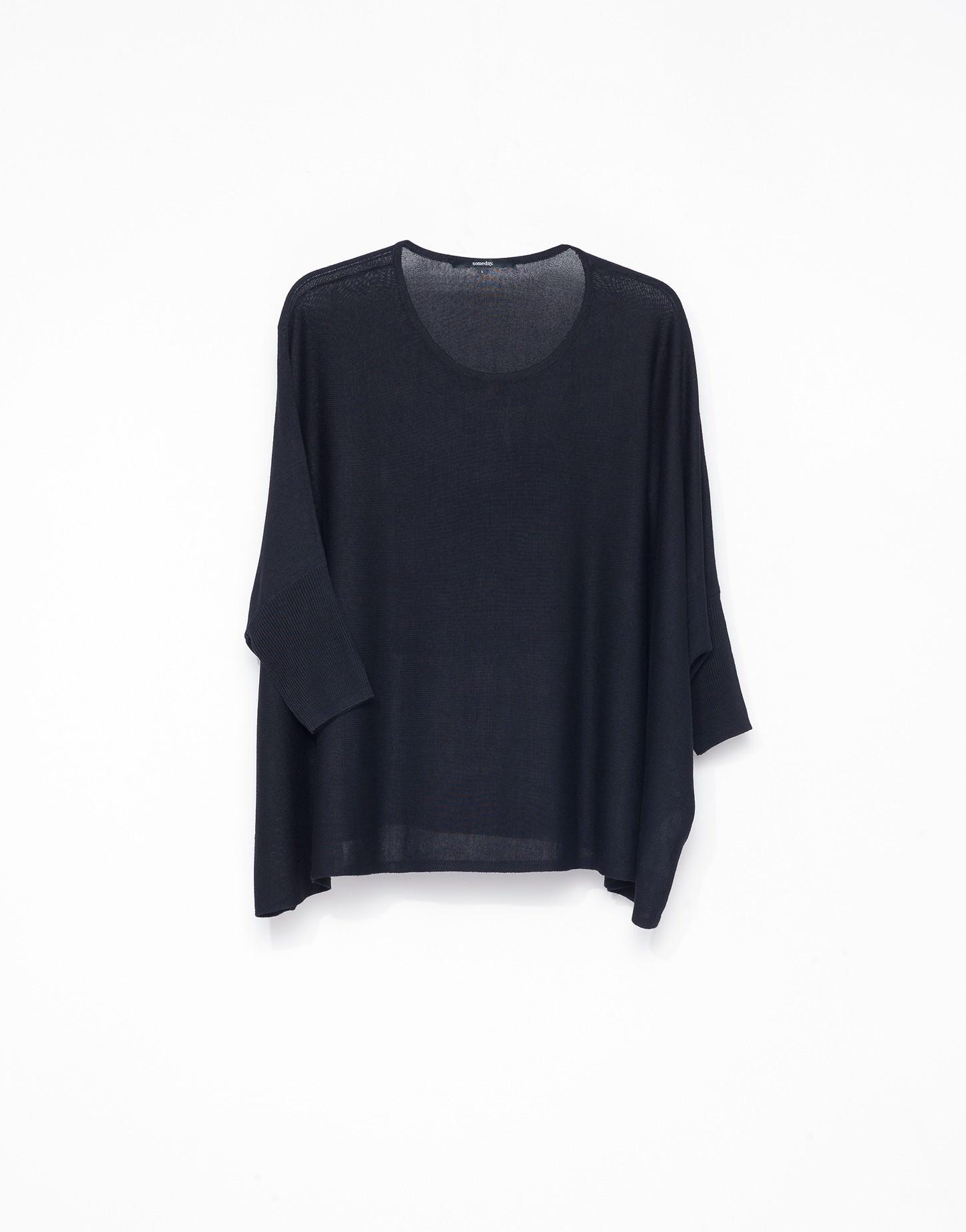 oversize pullover tjelva blau online bestellen someday online shop. Black Bedroom Furniture Sets. Home Design Ideas