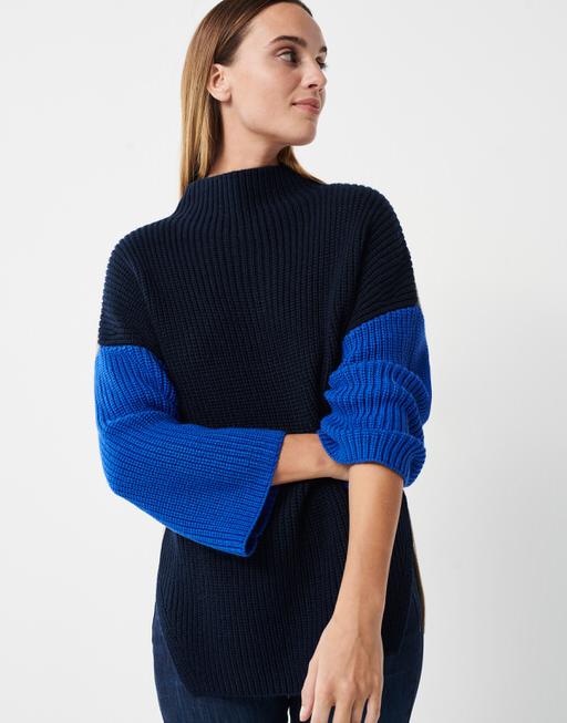 Knitted jumper Tamega dark night