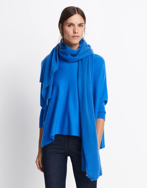Kaschmir Schal Baalath scarf blue iris