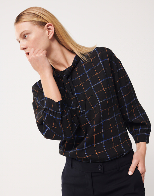 Shirtbluse Zolta check endless blue