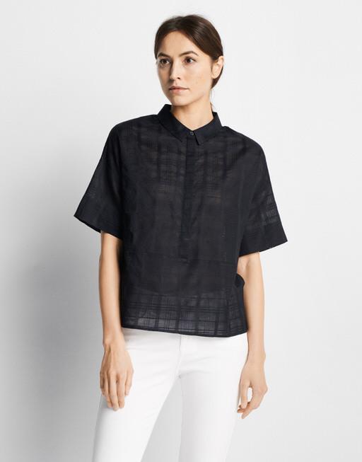 Oversized blouse Zelig check blue dusk