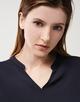 V-hals shirt Kurti blue dusk