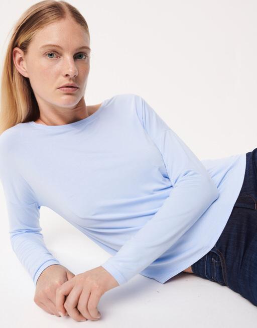Oversize Shirt Kisala blue illusion