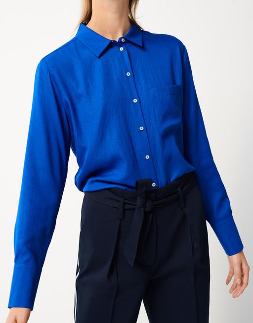 Crashbluse Zita contemporary blue