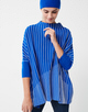 Oversize Pullover Tjelvo graphic contemporary blue