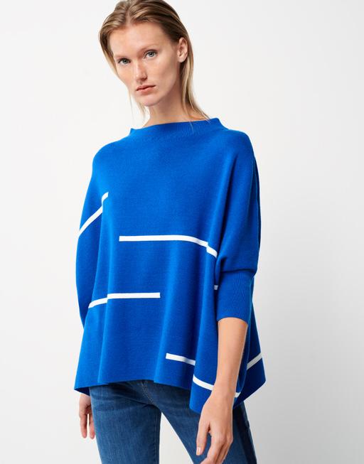 Oversize Pullover Tjelvo horizon contemporary blue