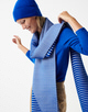 Strickschal Bahir scarf contemporary blue