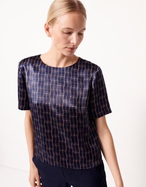 Shirtbluse Zebil print bold blue