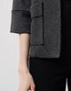 blazer jas Nadja tweed slate grey melange