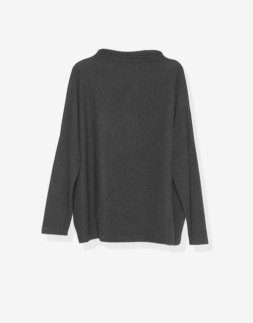 Boxy-Shirt Umissa slate grey melange