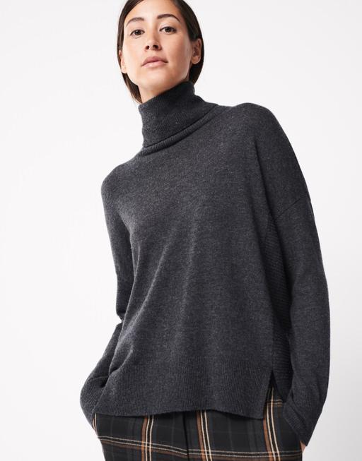 Oversize Pullover Thelma slate grey melange