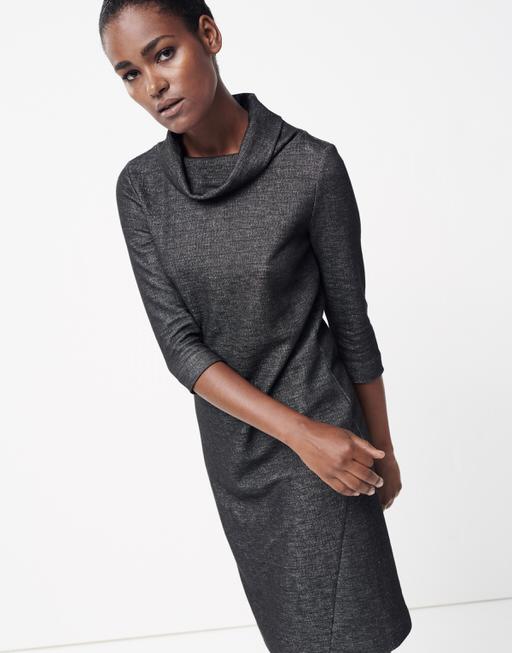 Jerseykleid Quanzetta slate grey melange