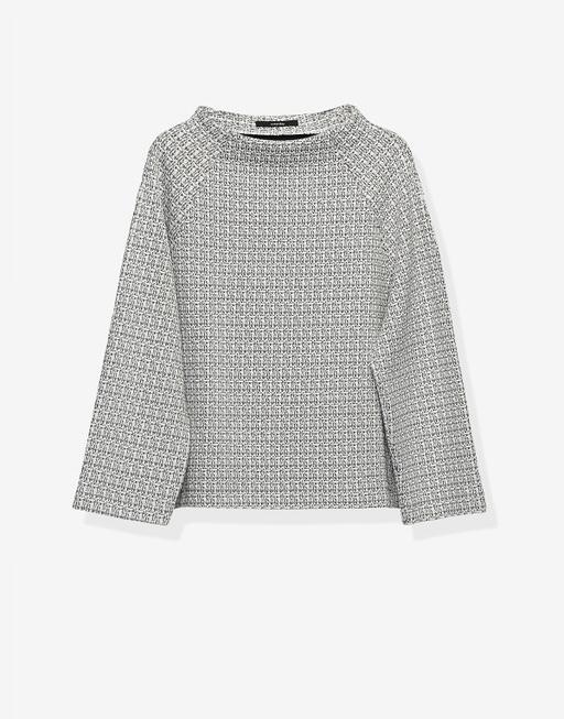 Boxy-Shirt Urania texture hazy fog melange