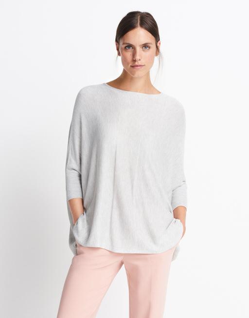 Oversize Pullover Tjelva block glory grey melange