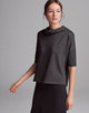 Boxy-Shirt Udine sparkling black