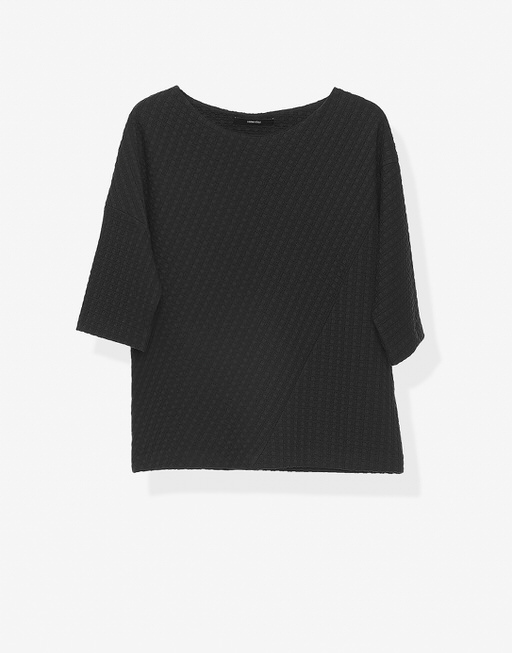 Boxy-Shirt Upama graphic black