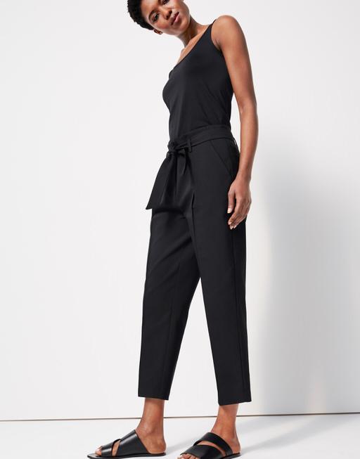 Cigarette trousers Candida detail black