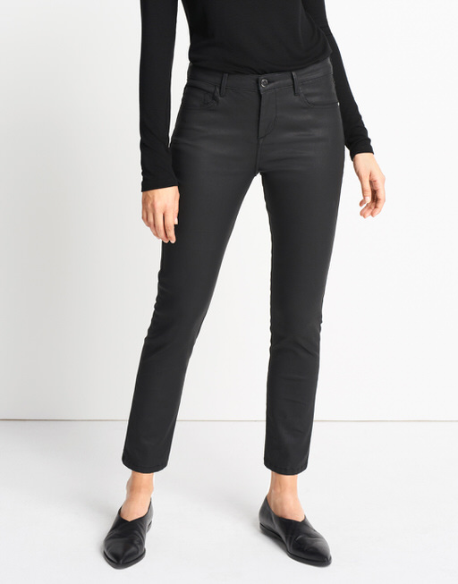 Coated-Jeans Cadou coated black