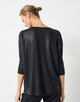 Oversize Shirt Kadie glitter black