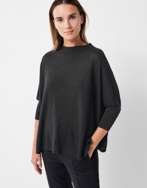 Boxy Pullover Tjelvo sparkle black