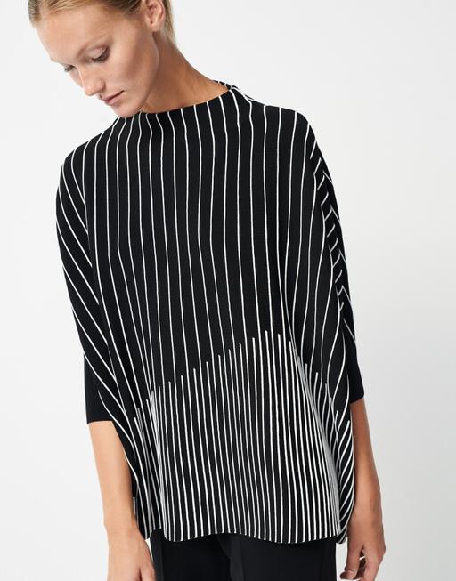 Oversize Pullover Tjelvo graphic black