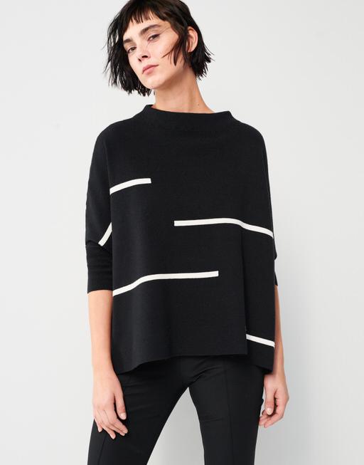 Oversize Pullover Tjelvo horizon black