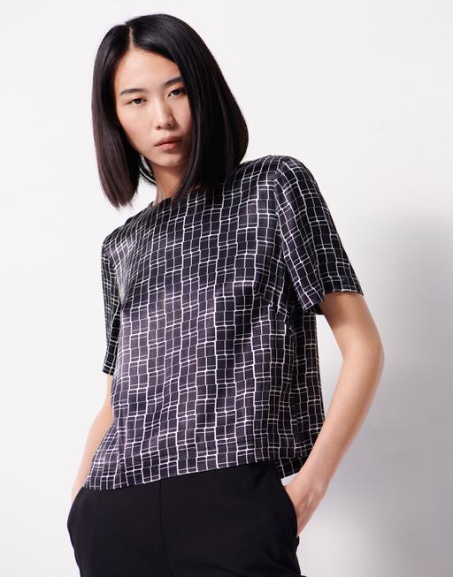 Shirtbluse Zebil print black