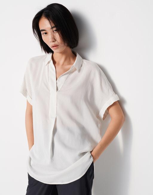 Oversize Bluse Zanari stripe black