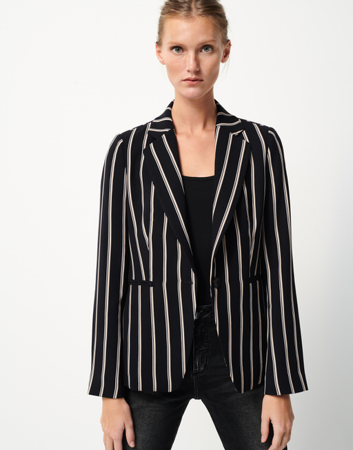 Blazer Naima stripe black